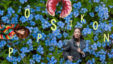 Kolaž s Carly Rae Jepsen, Sandrom Oh u ulozi Eve Polastri i ružičastim hlačama Janelle Monáe